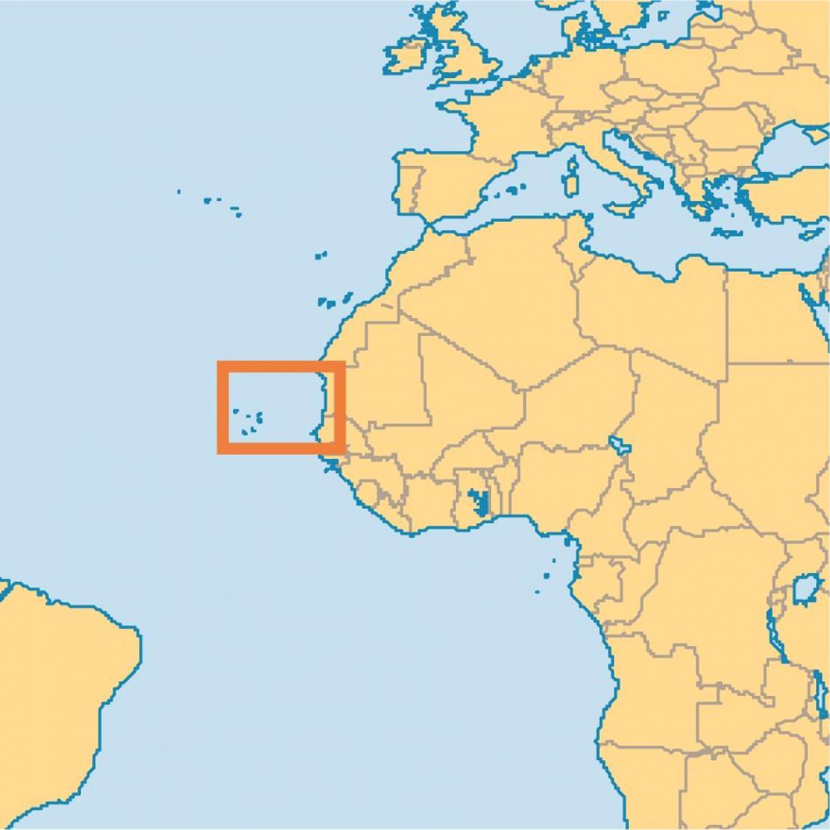 kapp kart Kapp Verde øyene verden kart   Vise Cape Verde på verdenskartet  kapp kart